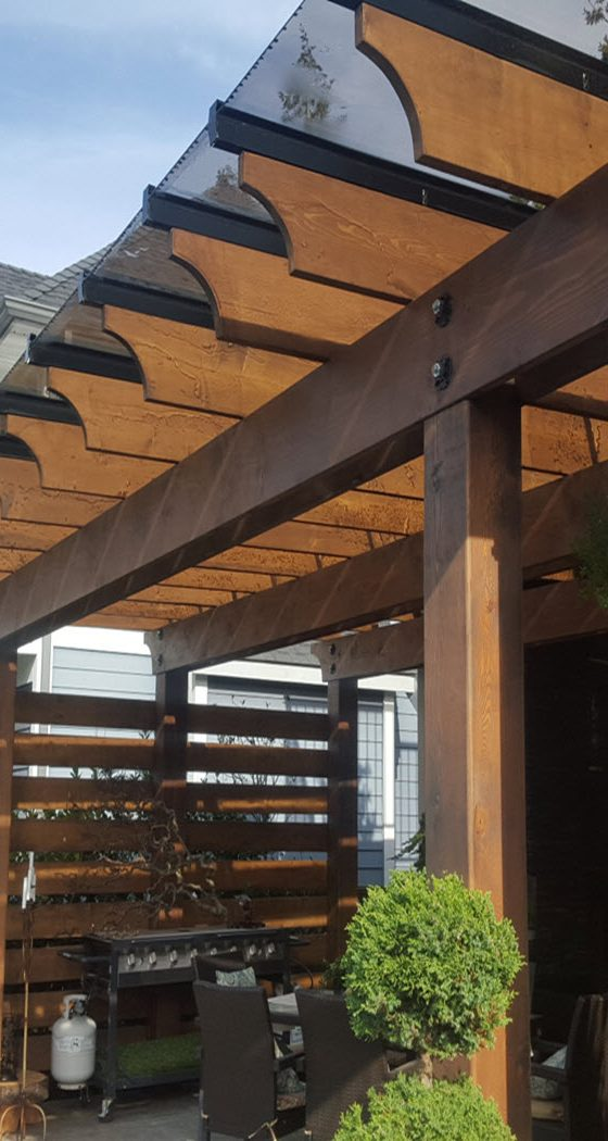 Wood Pergola With Glass (1)