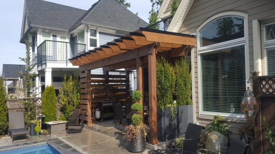 Wood Pergola with Glass – 2