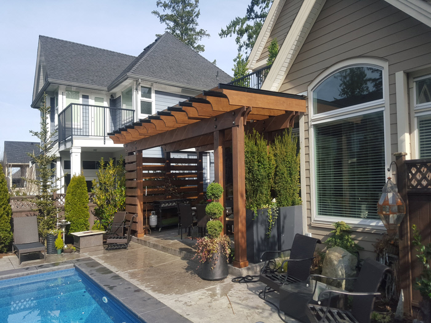Wood Pergola Glass Canada Seattle Pabs Home Centre